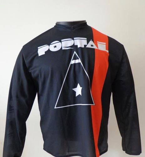 Maillot PORTAL noir & orange